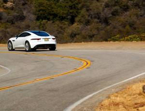 F-TYPE Four-Cylinder Media Drives in LA